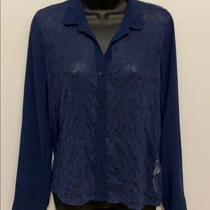 ABERCROMBIE SHEER LACE TOP